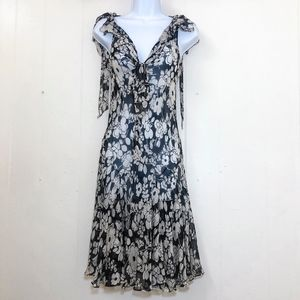 Milly Sheer Floral Dress Anthropologie Gatsby XS
